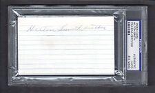 Hilton Smith (Debut 1932) NEGRO LEAGUE SIGNED AUTOGRAPH 3x5 Index Card PSA / DNA