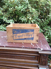 French Vintage Wooden Butter Box