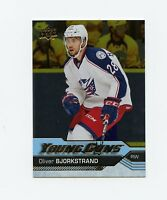 16/17 UPPER DECK YOUNG GUNS SILVER FOIL ROOKIE RC #243 OLIVER BJORKSTRAND *59605