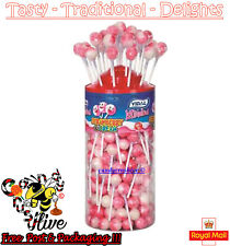 Vidal Lotta Lollies Strawberry & Cream Lollipops - 150 count