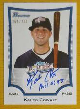 2009 Bowman AFLAC Autographs #KC Kaleb Cowart #'d 59/230 RC Rookie Card Auto