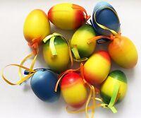 20 Ostereier aus Kunststoff Plastik marmoriert, Plastikeier Ostern, Dekoeier 6cm