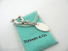 Tiffany & Co Silver Half Shackle Oval Round Key Ring Keychain Key Chain Rare