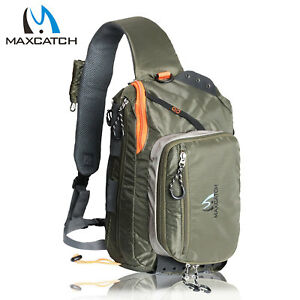 Maxcatch Fly Fishing Sling Bag With Fly Patch Sling Back Pack Outdoorsports