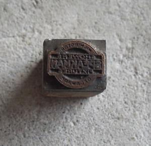Vintage Speakman Fixtures  Wood Metal Letterpress Print Block Stamp