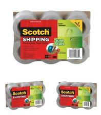6 PACK Shipping Clear Pack Refill Rolls Scotch 3M Easy-Grip Packing Tape Sealing