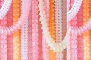 Clover Leaf Hanging Paperchain Decoration ~ Birthdays, Weddings, Parties ~ 3.6M