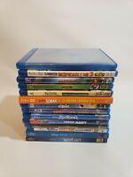 Blu-ray/DVD Lot of 14 Movies Disney Pixar Kids Children Family Zootopia Dory ETC