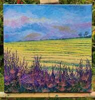Stunning Contemporary Textured Landscape Countryside Original Oil Art iLex.Arts