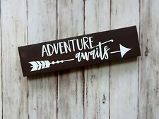 Adventure Awaits - Mini Wood Sign Shelf Sitter Perfect for a Nursery!
