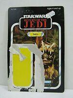Vintage Star Wars ROTJ Teebo 77 Card Back Unpunched Kenner 1983 (Pg115B)