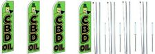 Cbd Öl Swooper Flagge Mit Komplett Hybrid Stange Satz 4 Packung