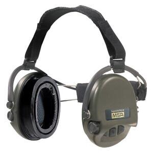 MSA Sordin Supreme Pro X Nackenband Gelkissen grüne Cups Kapselgehörschutz
