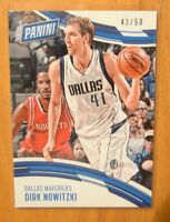 Dirk Nowitzki 2016-17 Panini Day Promo Card #D /50 Dallas Mavericks
