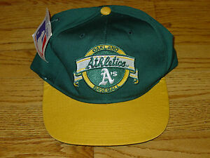 Vintage Oakland A's Athletics Snapback Baseball Hat Cap Green Mens Adult New Era