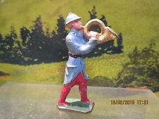 Magnifique figurine en plomb creux DC Fanfare militaire 14-18 corre de chasse