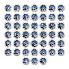 WR ALL 45 Presidentes de Estados Unidos Colorized Silver Plated Coin Set