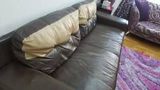 2 piece set DFS sofa brown/coffee color(3seater and 2seater)size in description