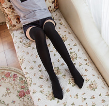Girls Ladies Thigh High OVER KNEE Socks Women  Candy Color Long Cotton Stockings