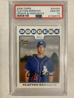 2008 TOPPS UPDATE AND HIGHLIGHTS CLAYTON KERSHAW RooKie Card RC PSA 10 GEM MINT