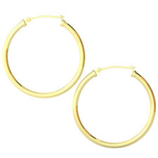 14k Yellow Gold Filled Lightweight Endless Hoop Earrings in 34mm, 2.25mm Gauge