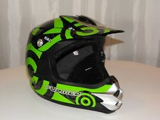 FULMER RX2 SECTOR MOTORCYCLE HELMET SIZE XS EXTRA SMALL GREEN & BLACK MOTOCROSS