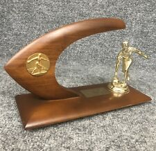 Vintage Mid Century Modern Bowling Trophy Atomic Boomerang Style In EUC