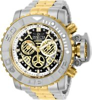 Invicta Mens 58MM Sea Hunter Gen II Swiss Black Dial 2-Tone SS Bracelet Watch