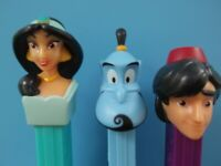 Pez Aladdin, set of 3 Jasmine, Genie and Aladdin, mib