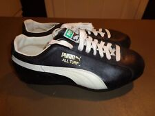 Vintage Puma Mens Black All Turf Leather Athletic Cleat Shoes Size 8.5