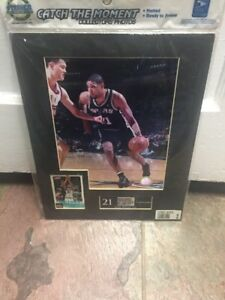 Tim Duncan Catch The Moment Matted Photo, Card, & Stamp Steiner Sports 11 x14