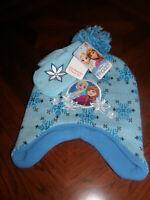 Girl's Hat & Mittens Set ~ Disney's FROZEN Anna and Elsa ~NWT