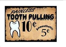 Vintage Style Dentist Sign Dentist Retro Style Sign Kitchen Sign