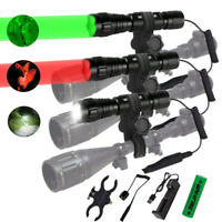 400yard  Hunting Flashlight LED Red /Green Light Coyote Hog Pig Varmint Predator
