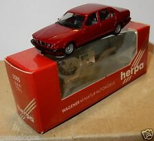 MICRO HERPA HO 1/87 BMW 750 IL ROUGE FONCE IN BOX