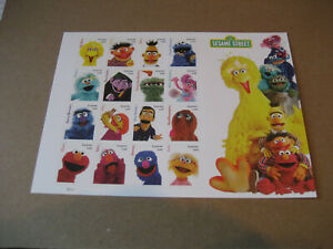 USA 2019  #5394 SESAME STREET STAMP SHEET- 50TH ANNIVERSARY  FOREVER (SELF-ADHES