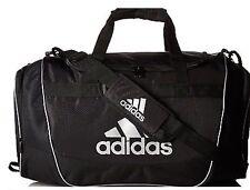New Adidas Defender II Duffel Bag Sport Small  Travel Run Gym Bag Black White
