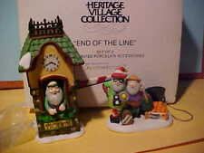Department 56 End of the Line 2 Pc Set Heritage Village Collection 56370