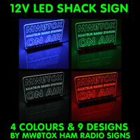 12V LED SHACK SIGN HAM AMATEUR RADIO CALL SIGN CUSTOM MADE BY MW0TOX