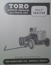 TORO Series IV Riding Lawn Garden Tractor Owner & Parts Manual 24pg 4 TB 4TC