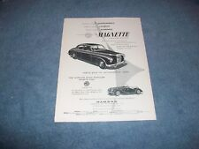"""1954 MG Magnette & TF Vintage Ad """"Sports-Car Performance"""""""
