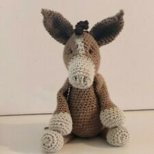 Oscar the Donkey Amigurumi handmade soft crochet animal toy