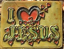 I Love Jesus plaque, stepping stone, plastic mold, concrete mold, cement