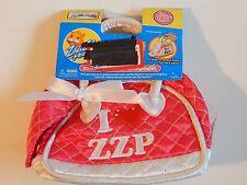 New listing Zhu Zhu Pet Carrier Hamster Bag I Love Zzp Pink White Girls Gift Toy