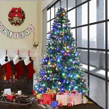 pre lit fiber optic 3 8 artificial christmas tree led multicolor lights - Plastic Christmas Tree