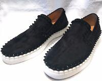 Christian Louboutin Pik Black Suede Ladies Boat Shoes EU 39.5 or  USA 9.5
