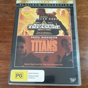 National Treasure + Remember the Titans DVD Platinum Collection R4 LIKE NEW