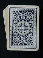 Antique Playing Cards Bezique Edwardian Pack Wide Goodall Ornate Blue c1910