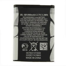 New 3.7V 890 mAh BL-5B BL5B Battery For Nokia N90 3230 5300 5070 6121 6080 #L