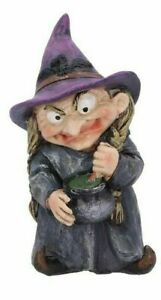 """Ugly Witch and Cauldron """"Double Double"""" Ornament Figurine"""